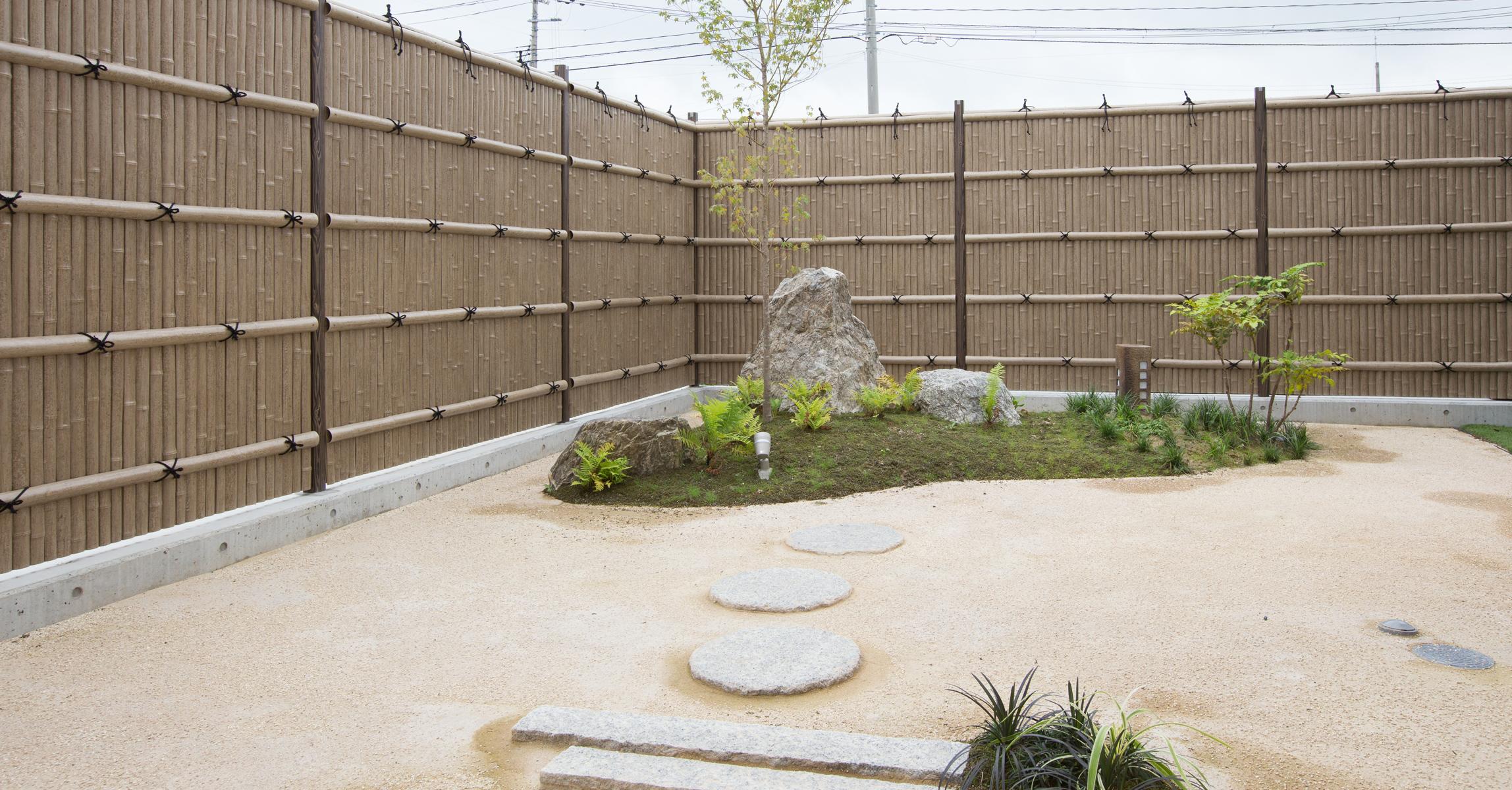 樹脂製の竹垣フェンス